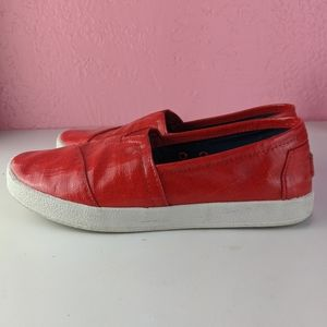 Toms red women's size 6